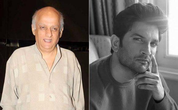 Mukesh Bhatt and Sushant Singh Rajput