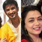 Sushant Singh Rajput and Ankita Lokhande with co-star Prarthana Behere